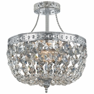 119-10-CH-CL-MWP Crystorama Crystorama 3 Light Hand Cut Clear Crystal Chrome Ceiling Mount