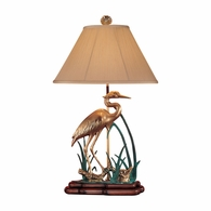 119 Wildwood Solid Brass Hand Finished Wading Crane Lamp