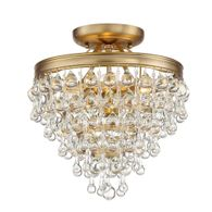 130-VG_CEILING Crystorama Calypso 3 Light Vibrant Gold Ceiling Mount