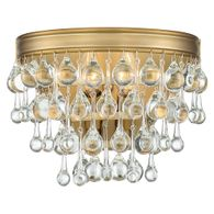 132-VG Crystorama Calypso 2 Light Vibrant Gold Sconce