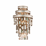 142-13 Corbett Dolcetti 3Lt Wall Sconce with Dolcetti Silver Finish