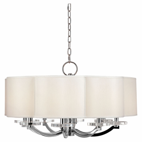 1432 Hudson Valley Garrison 8 Light Chandelier