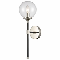 15351/1 ELK Lighting Boudreaux 1-Light Sconce in Matte Black with Clear Glass