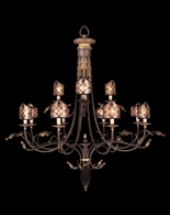 153540ST Fine Art Lamps Villa 1919 61 inch 12 Light Chandelier