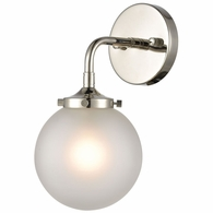 15360/1 ELK Lighting Boudreaux 1-Light Sconce in Polished Nickel with Frosted
