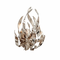 154-11 Corbett Graffiti 1Lt Wall Sconce with Silver Leaf Polished Stainless Finish