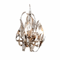 154-12 Corbett Graffiti 2Lt Wall Sconce with Silver Leaf Polished Stainless Finish