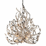 154-412 Corbett Graffiti 12Lt Pendant with Silver Leaf Polished Stainless Finish