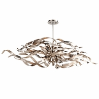 154-56 Corbett Graffiti 6Lt Linear with Silver Leaf Polished Stainless Finish