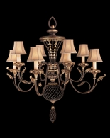 156140ST Fine Art Lamps Villa 1919 40 inch 8 Light Chandelier