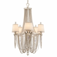 157-05 Corbett Flirt 5Lt Chandelier with Silver Leaf Polished Stainless Finish