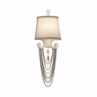 157-11 Corbett Flirt 1Lt Wall Sconce with Silver Leaf Polished Stainless Finish