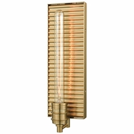 15940/1 ELK Lighting Corrugated Steel 1-Light Sconce in Satin Brass