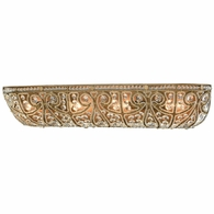 15961/4 ELK Lighting Elizabethan 4-Light Vanity Sconce in Dark Bronze with Clear Crystal