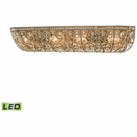 15961/4-LED ELK Lighting Elizabethan 4-Light Vanity Sconce in Dark Bronze with Clear Crystal - Includes LED Bulbs