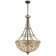 15966/8 ELK Lighting Elizabethan 8-Light Chandelier in Dark Bronze with Clear Crystal