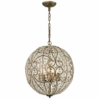 15975/8 ELK Lighting Elizabethan 8-Light Chandelier in Dark Bronze with Crystal