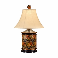16068 Chelsea House Wood Hand Painted Hensen Lamp