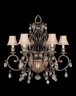 161740ST Fine Art Lamps A Midsummer Nights Dream 35 inch 6/1 Light Chandelier