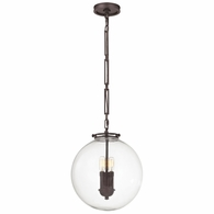 16372/3 ELK Lighting Gramercy 3-Light Pendant in Oil Rubbed Bronze with Clear Glass