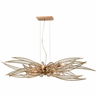 16765/6 ELK Lighting Naples 6-Light Island Light in Matte Gold with Clear Crystal