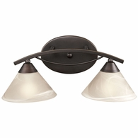 17641/2 ELK Lighting Elysburg 2-Light Vanity Lamp in Oil Rubbed Bronze with White Marbleized Glass