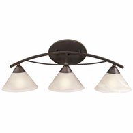 17642/3 ELK Lighting Elysburg 3-Light Vanity Lamp in Oil Rubbed Bronze with White Marbleized Glass