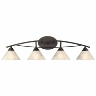 17643/4 ELK Lighting Elysburg 4-Light Vanity Lamp in Oil Rubbed Bronze with White Marbleized Glass