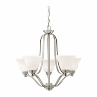 1783NI Kichler Transitional 1 Tier Medium Chandelier 5Lt