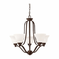 1783OZ Kichler Transitional 1 Tier Medium Chandelier 5Lt