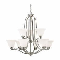 1784NI Kichler Transitional 2 Tier Chandelier 9Lt