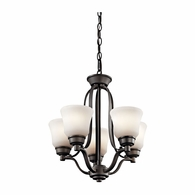 1788OZ Kichler Transitional Mini Chandelier 5Lt