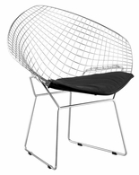 188020 Zuo Modern (Package of 2) Net Dining Chair in Black Finish