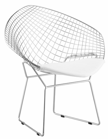 188021 Zuo Modern (Package of 2) Net Dining Chair in White Finish