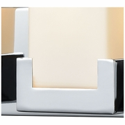 19503/4 ELK Lighting Balcony 4-Light Vanity Sconce in Polished Chrome with Opal White Glass