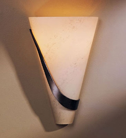 20-6563L-07-K74-R Hubbardton Forge Lighting Sweep Half Cone Wrought Iron Wall Sconce (RETURNED PRODUCT)
