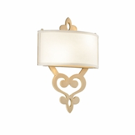 201-12 Corbett Olivia 2Lt Wall Sconce with Satin And Polished Brass Finish