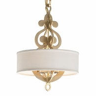201-44 Corbett Olivia 4Lt Pendant with Satin And Polished Brass Finish