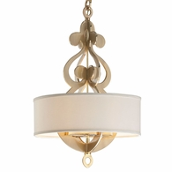 201-46 Corbett Olivia 8Lt Pendant with Satin And Polished Brass Finish