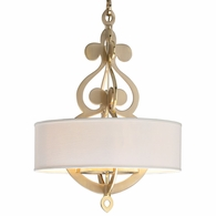 201-48 Corbett Olivia 8Lt Pendant with Satin And Polished Brass Finish
