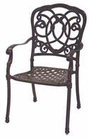 201020-1 Darlee Signature Florence Dining Chair in Mocha or Antique Bronze