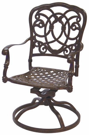 201020-3 Darlee Signature Florence Swivel Rocker Chair in Mocha or Antique Bronze