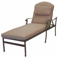 201020-33 Darlee Signature Florence Chaise Lounge (extra long) in Mocha or Antique Bronze