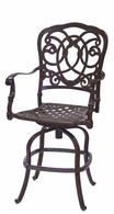 201020-7CH Darlee Signature Florence Swivel Counter Height Bar Stool in Mocha or Antique Bronze