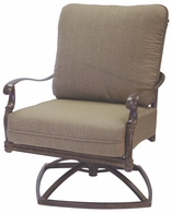 201026-3 Darlee Signature Florence Swivel Rocker Club Chair in Mocha or Antique Bronze