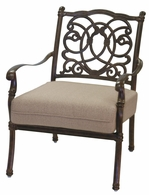 201028-1 Darlee Signature Florence Club Chair in Mocha or Antique Bronze