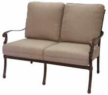 201028-2 Darlee Signature Florence Loveseat in Mocha or Antique Bronze