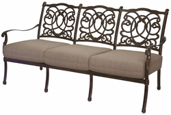 201028-9 Darlee Signature Florence Sofa in Mocha or Antique Bronze