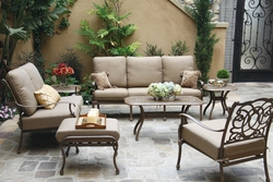 201028 Darlee Signature Florence Deep Seating Group 4 PC Set in Mocha or Antique Bronze