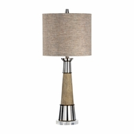 21721 Wildwood Lamps Bob Timberlake Metal/Concrete Brushed Nickel/Natural Gray Firehorn Lamp
